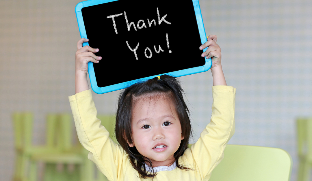 Cultivate an attitude of gratitude in your child after the holidays